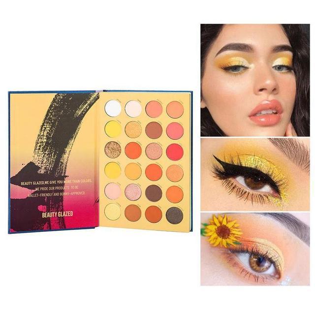 Beauty Glazed-paleta de sombras de ojos, 72 colores, tres capas, estilo libro, maquillaje cosmético, sombra de ojos perlada mate 2