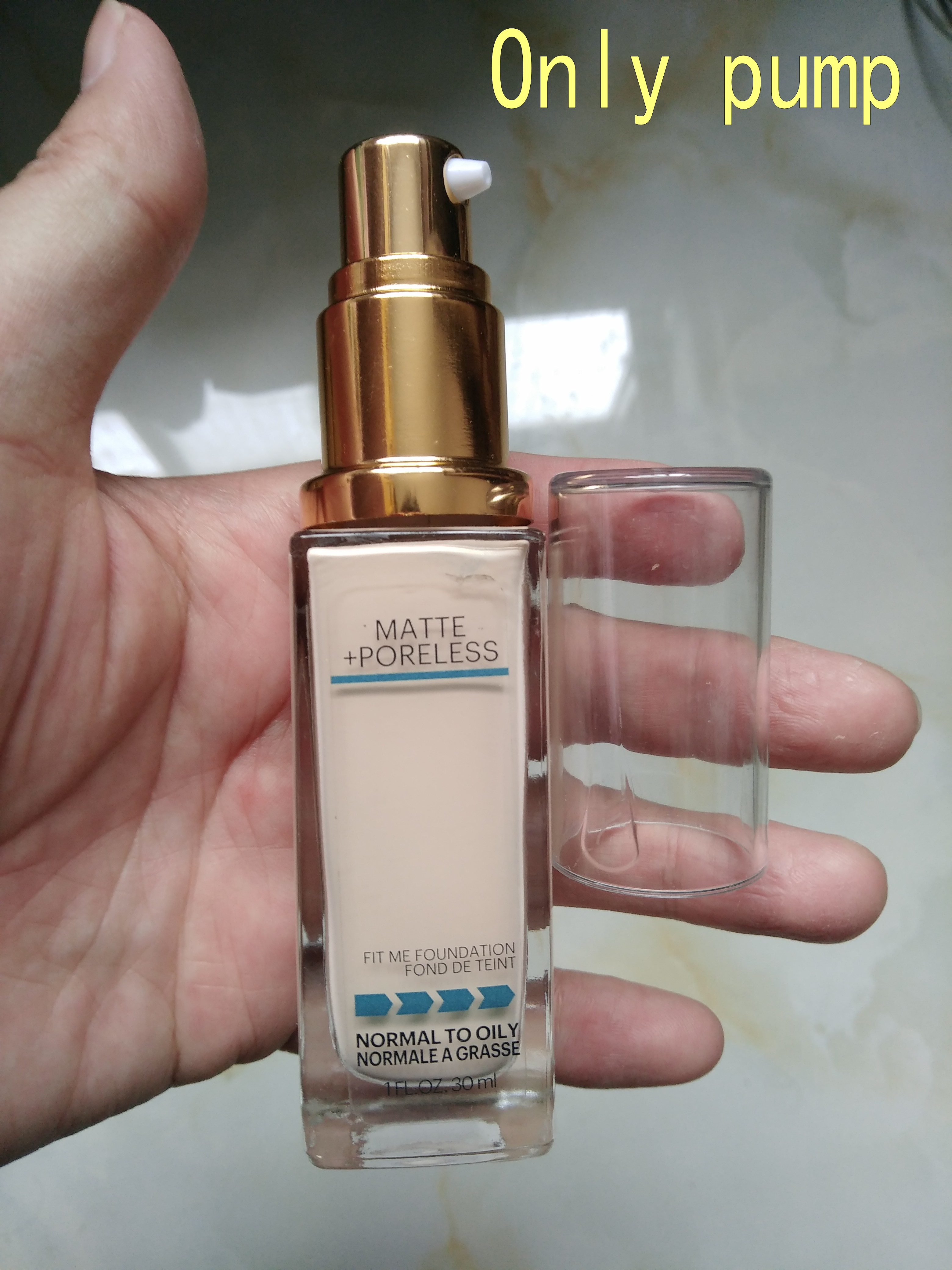 Brand Makeup Tools Foundation Pump Suitable For Fit Me Liquid Foundation Black Or Gold Pump Without Liquid Foundation