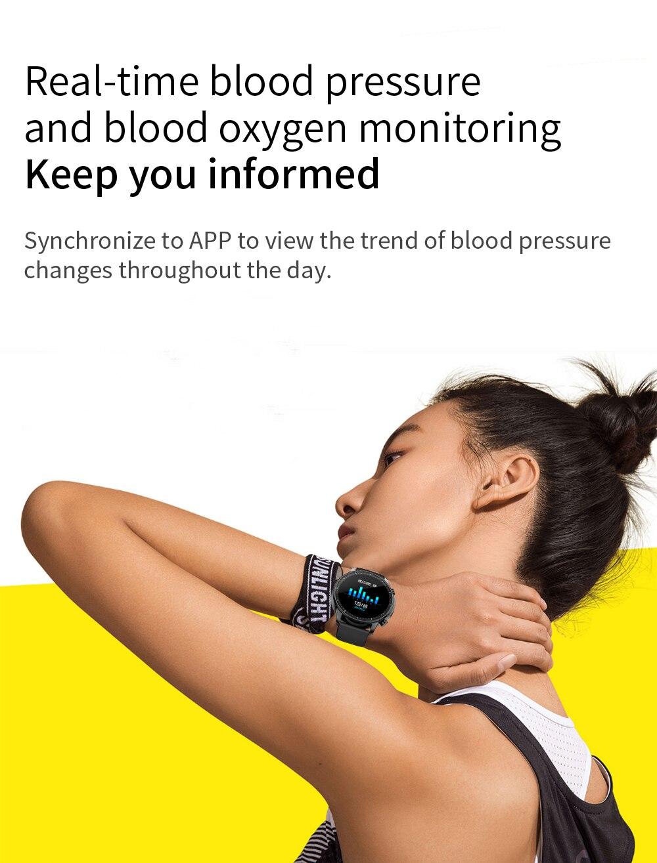 H60dde6b818e247f4a3dffe58e60d912eP COLMI V23 Women Smart Watch Full Touch Fitness Tracker IP67 Waterproof Blood Pressure Smart Clock Men Smartwatch