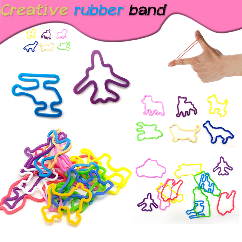 Silicone Rubber Band Children's Fun Game DIY Silicone Hand Strap Hair Creative Animal Rubber Band Toy