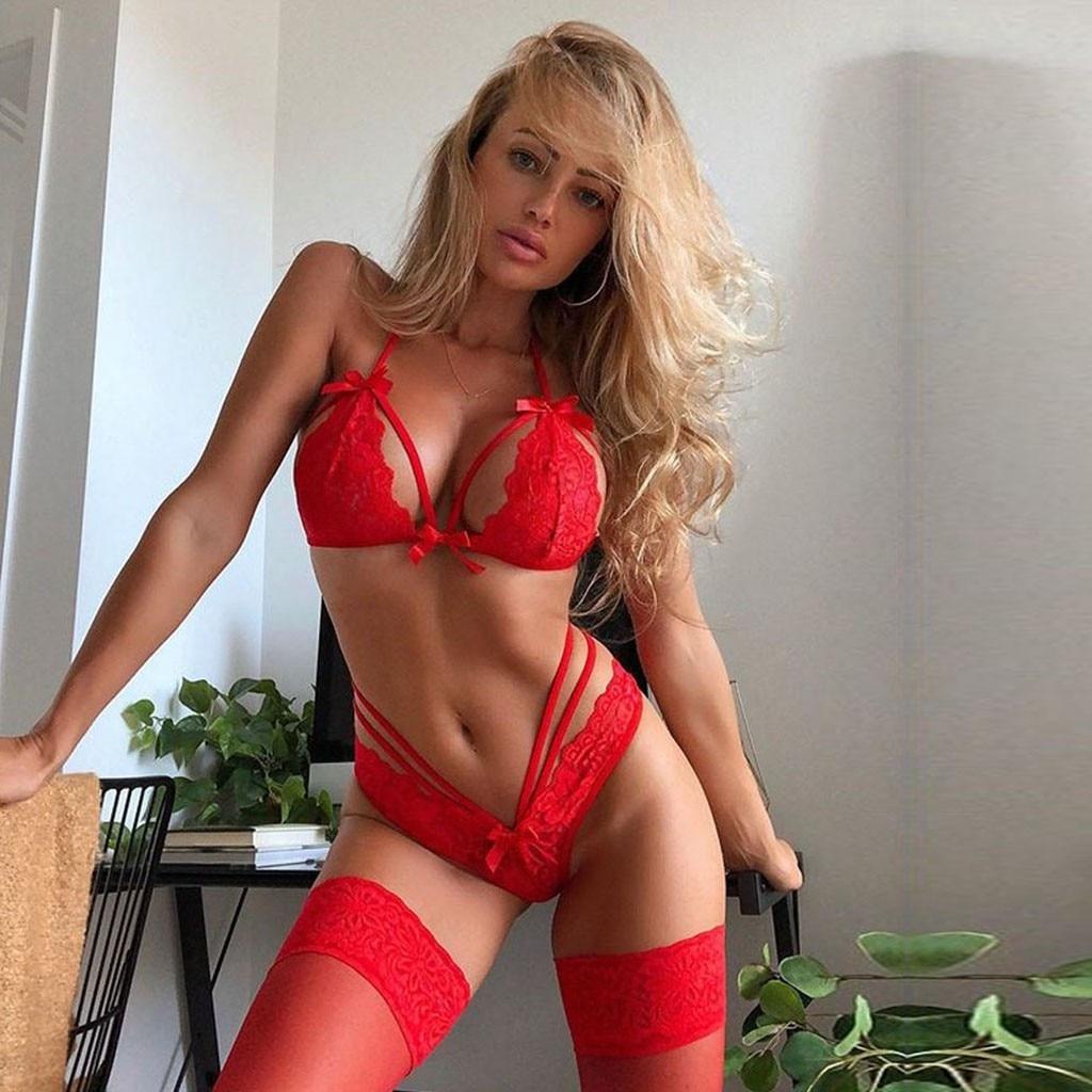 2020 New Plus Size Lingerie Sexy Women Lace Porno Teddy Flower Bra No Steel Ring Bow Bra Thong Set Sexy Underwear нижнее белье