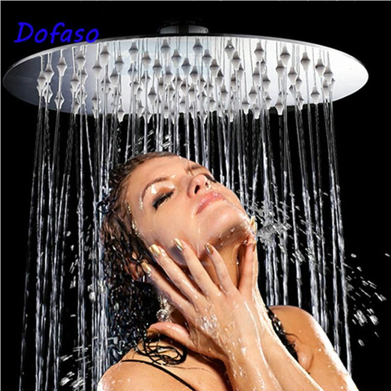 Dofaso 4/6/8/10/12 Inch Big Rain Shower Head Stainless Square And Round Shower Head Over-head Shower Sprayer
