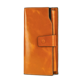 New Leather Ladies Wallet Long Multi-card Large Capacity Check - discount item  20% OFF Wallets & Holders