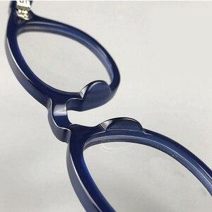 Image 5 - Johnny Depp gözlük erkekler kadınlar bilgisayar gözlük yuvarlak şeffaf gözlük marka tasarım asetat tarzı Vintage çerçeve sq004