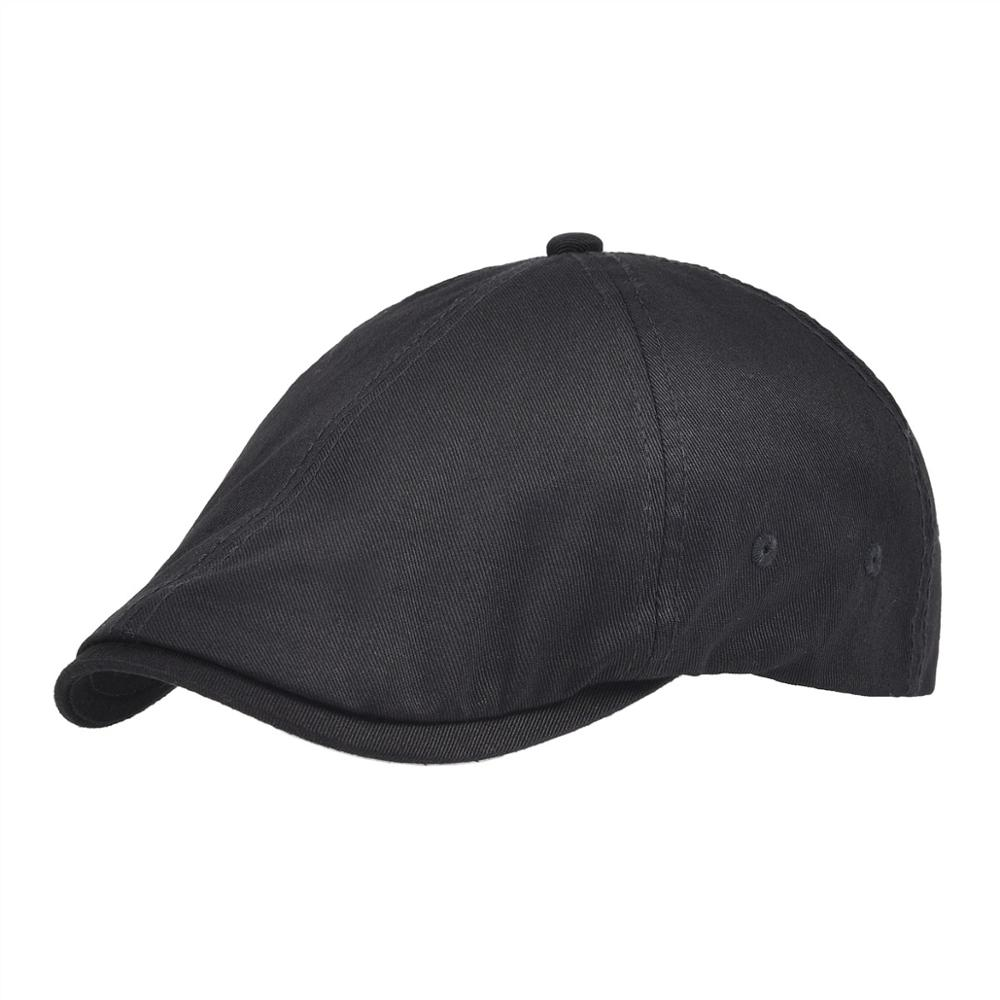 VOBOOM Newsboy Cap Men Spring Fall Golf Caps Twill Cotton Classic Flat Hat Ivy Hats Cabbies Headpiece 062