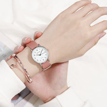 Canvas Casual Watch Female Student ins Harajuku Style Cute Girl Heart Japanese Small Fresh Korean Version Of The Simple Sen watch girl student korean version of the simple retro small small disc female table small round black with black face