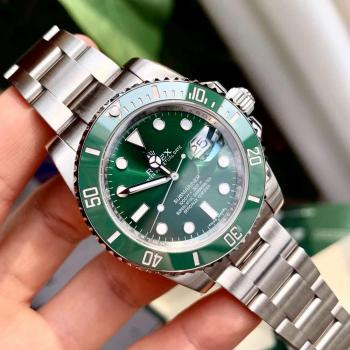 Rolex- Automatic Diving Watch Date Ceramic Outer Ring Stainless Steel Strap High Quality AAA