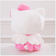 Boneca de pelúcia rosa, 25/30/40cm de altura, vestido de gato com laço, sentado, boneca de pelúcia, brinquedo com coração crianças presente do aniversário do dia dos namorados