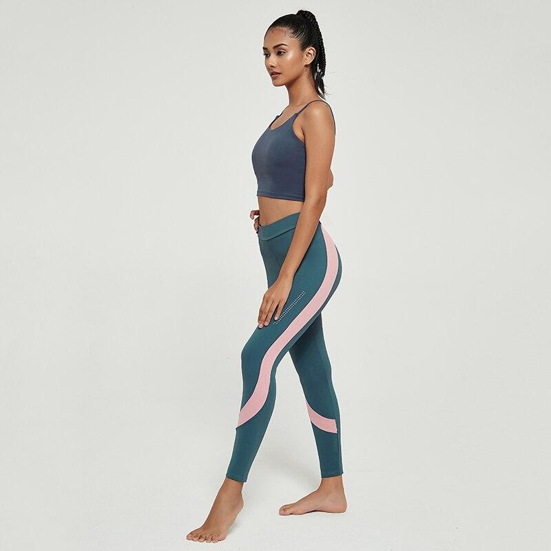Cardism Women's Yoga Sport Pants  High Waist Gym Sports Leggings For Women Sportswear Sexy Ankel-Length Splicing Woman Pants 5
