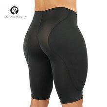 Erkekler vücut şekillendirici atık eğitmen Butt kaldırıcı uyluk giyotin dar şort sünger yastıklı güçlü şekillendirme iç çamaşırı modelleme bel