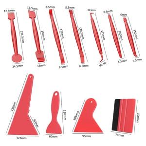 Image 2 - Innen Auto Vinyl Schaber Auto Dashboard Aufkleber Film Wrapping Werkzeuge Universal Auto Filz Rakel Schaber Messer Aufkleber Plaste