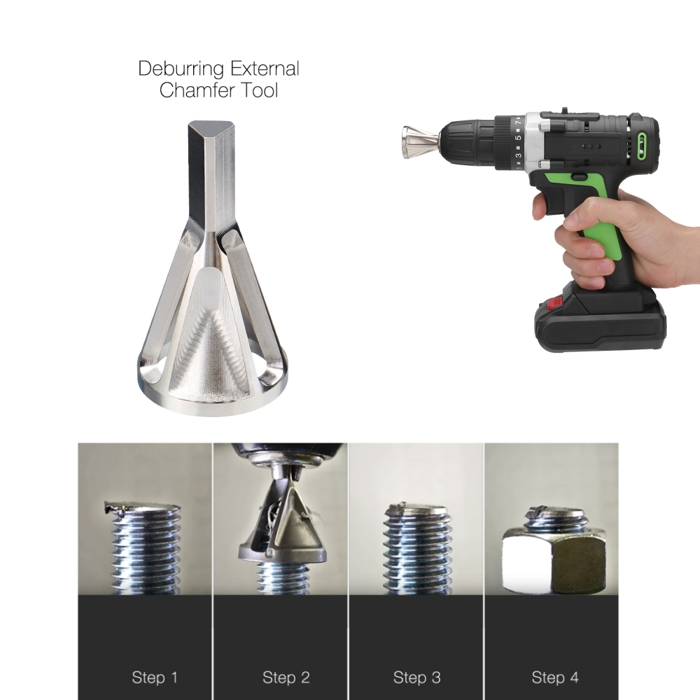 Stainless Steel Drills Bit Deburring External Chamfer Tool Metal Remove Burr Tools For All Kinds Of Chuck
