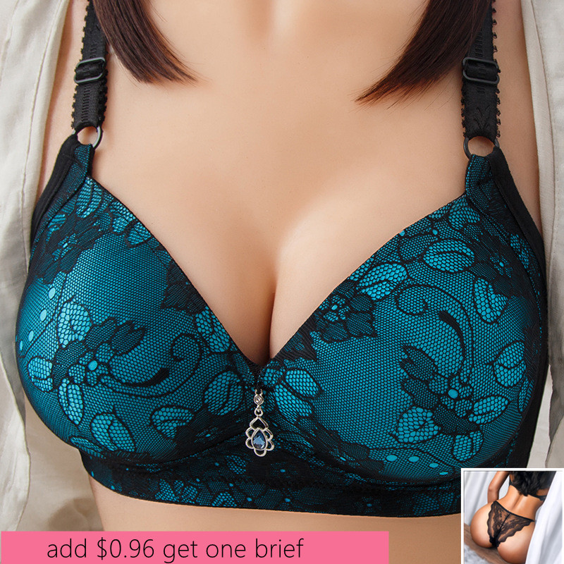 Sexy Push Up Bras For Women Front Closure Solid Color Brassiere Wireless Bralette Big Breast Seamless Underwear Plus Size 36-42B