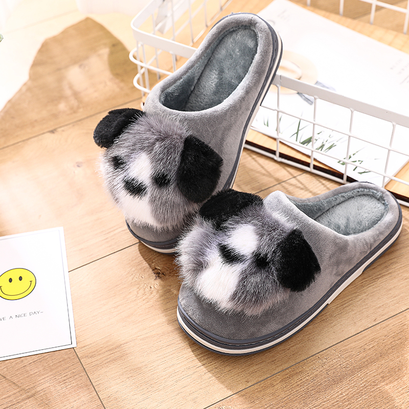 STONE VILLAGE Women Slippers Lovely Dog Animal Prints Mix Colors Flat Indoor Shoes Women Plush Warm Home Slippers Size 36-41 4