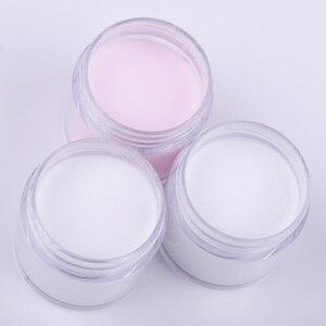 Image 5 - Nato graziosamente 30ml/10ml polvere acrilica intaglio chiodo estensione punta in polimero francese rosa bianco trasparente adesivo strass Nail Art