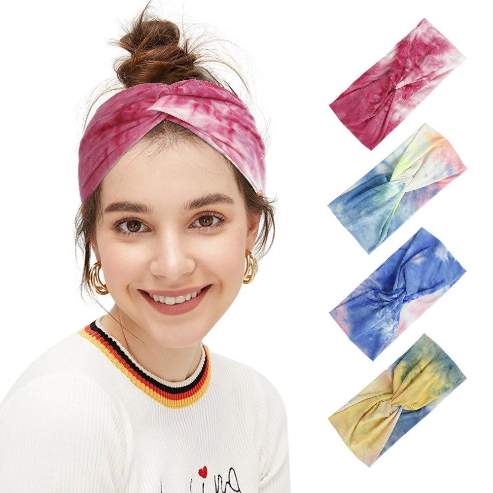 Купить тай дай крест для женщин модная повязка волос аксессуары взрослых