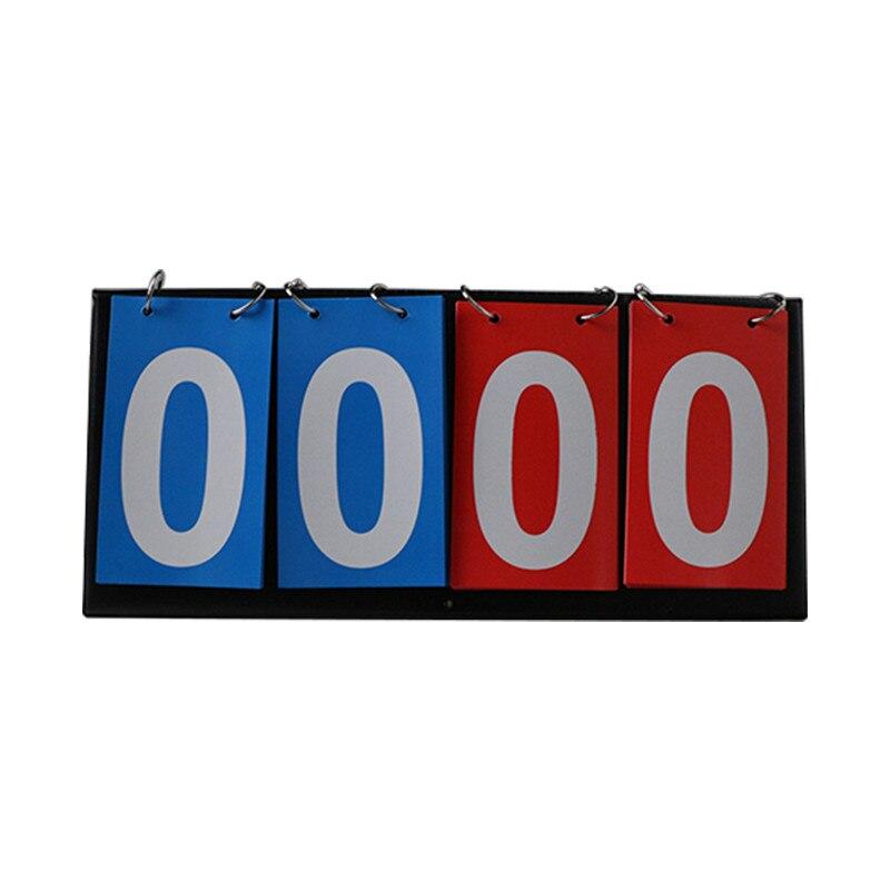 Portable 4 Digit Flip Scoreboard Tabletop Sports Volleyball Scorer Tennis
