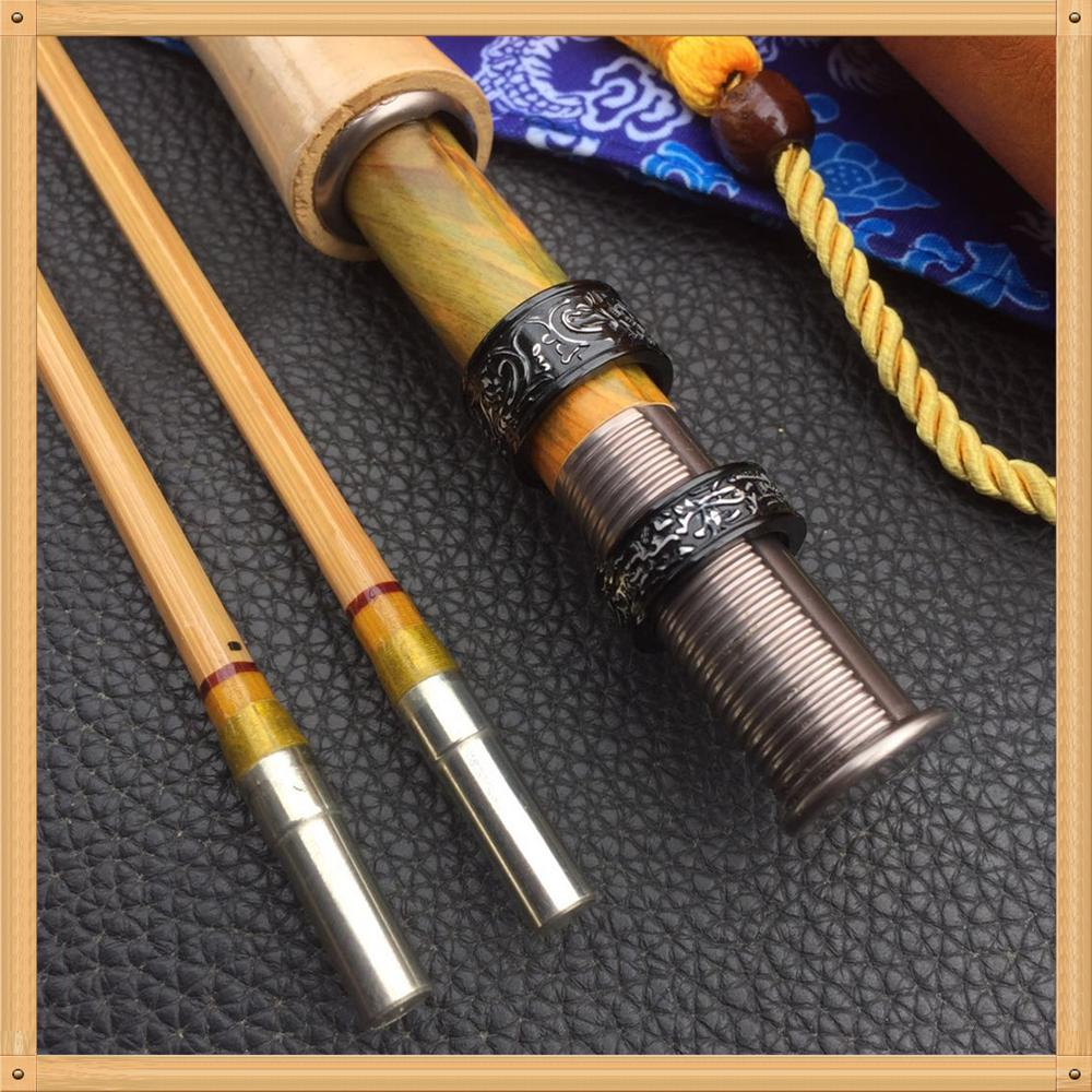 ZHUSRODS Classic Handcrafted Bamboo Fly Rod 7'6
