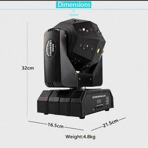 Image 4 - Led 18x12W Moving Head Laser Projektor Beleuchtung RGBW 4in1 Strahl Bühne Licht Wirbelwind Wirkung Für Dj Disco party Ball Strobe Laser