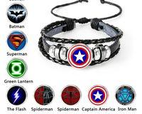 Disney Die Avengers Captain America Schild Deadpool Thor Batman Charms Armband Kinder Junge Punk Multilayer Leder Schmuck