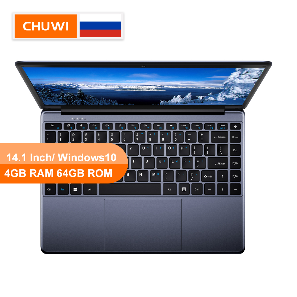 CHUWI Original HeroBook 14.1 Inch Laptop Windows 10 Intel E8000 Quad Core 4GB RAM 64GB ROM Laptop Borderless keyboard