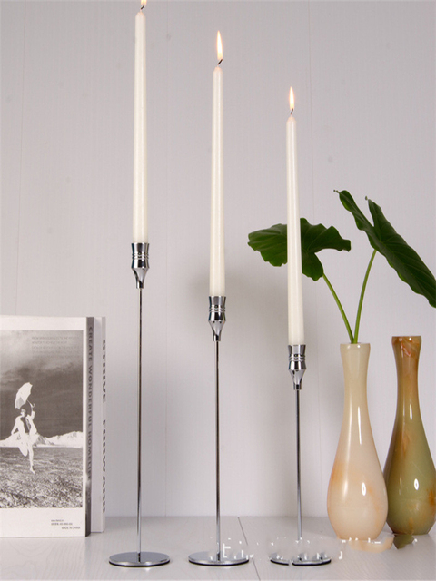 3 Pcs/ Set  European Metal Candle Holder Simple Golden Wedding Decoration Bar Party Living Room Decoration Home Decoration 4