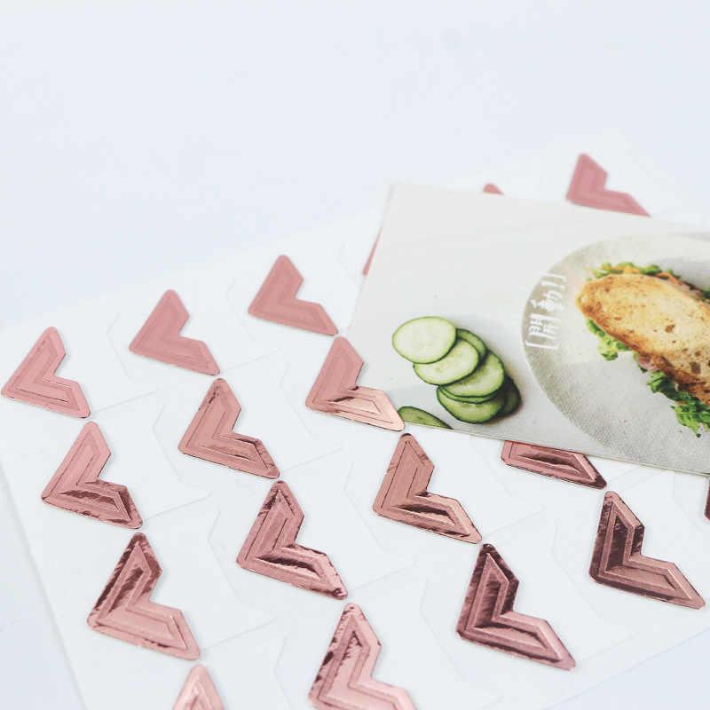 120 قطعة/الوحدة (5 أوراق) Corner الزاوية كرافت ورقة ملصقات albالصور DIY بها بنفسك الرجعية ملصقا إطار الزينة سكرابوكينغ