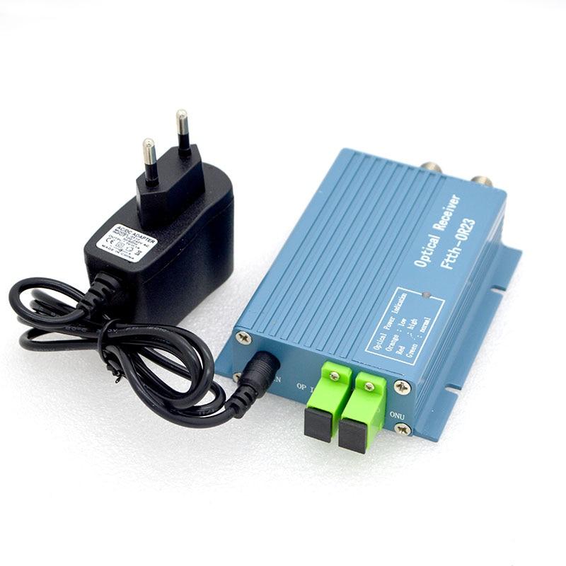 New FTTH CATV Optical Receiver High Level Fiber Optical WDM Converter SC APC Duplex Connector Mini Mode With 2 Output RF Inch
