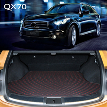 Lsrtw2017 Leather Car Trunk Mat Cargo Liner For Infiniti Qx70 2013 2014 2015 2016 2017 Rug Carpet Interior Accessories boot
