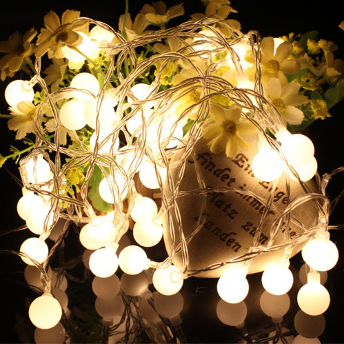 Lights Balls LED String Light Copper Wire Fairy Warm White Garland Home Christmas Wedding Party Decoration Powered By Battery