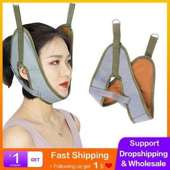 1 sztuk trakcja części szyjnej kręgosłupa urządzenie szyi wsparcie nosze zespoły szyjki macicy szyi trakcji pasek do rozciągania szyi szelki tanie i dobre opinie JBMBHC CHINA Neck Cervical Traction Device