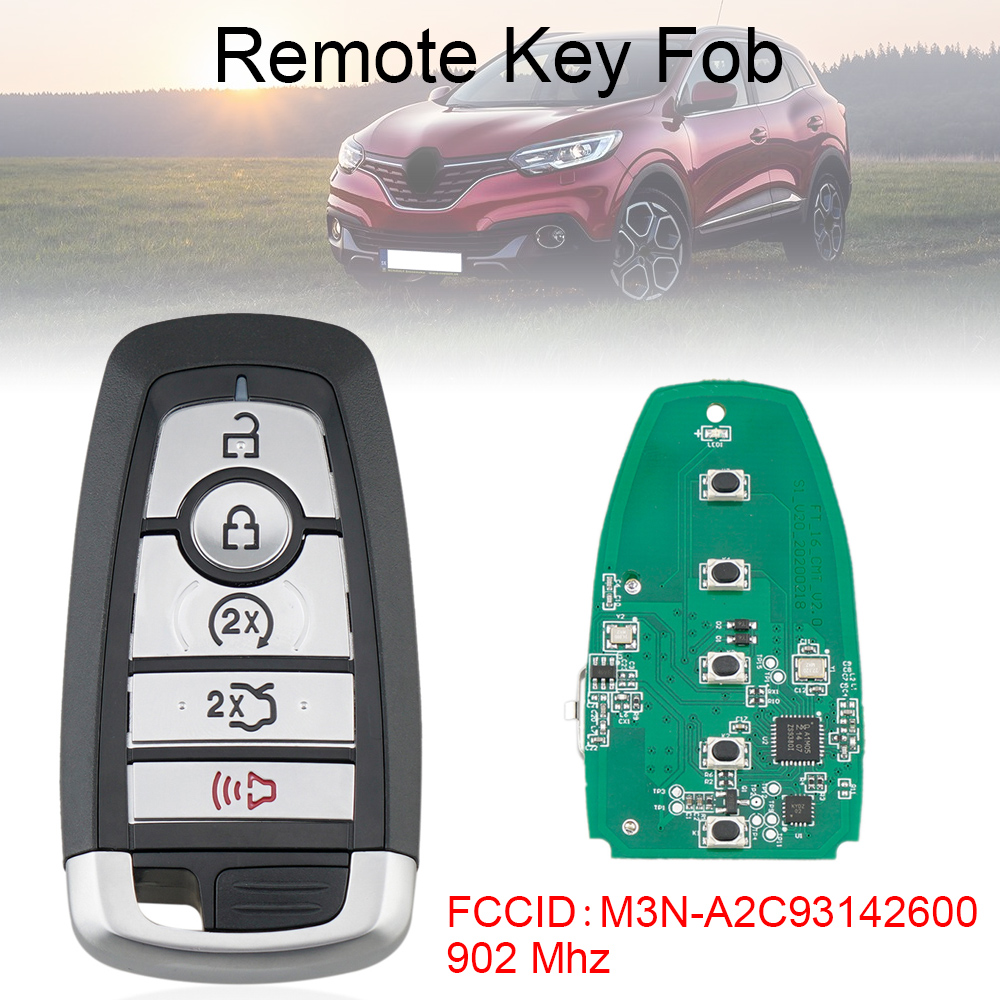 902Mhz Car Smart Remote Key Fob with ID49 Chip M3N-A2C93142600 for2017-2019 Ford Fusion / Expedition / Explorer / Edge Mustang