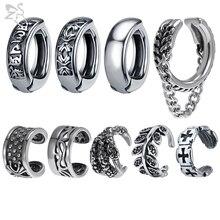 Ear-Clip Jewelry Non-Piercing earring Fake-Earrings Circle Stainless-Steel Women ZS