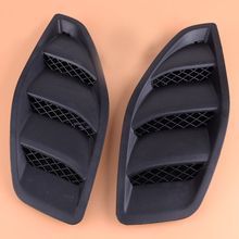 2PCS Left Right Engine Hood Dome Louvers Air Inlet Vents Bezel Sticker Protector Fit For Jeep JK Wrangler 2007 2015 2016 2017