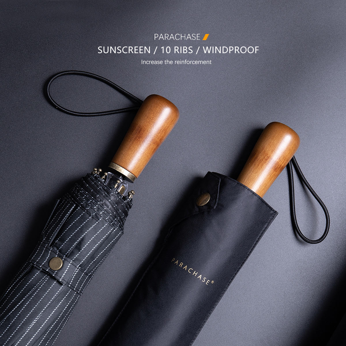 Wood Folding <font><b>Umbrella</b></font> Rain Men Women Anti UV 10 Ribs Windproof Japanese <font><b>Umbrella</b></font> Business Style <font><b>Big</b></font> <font><b>Golf</b></font> <font><b>Umbrellas</b></font> Guarda Chuva image