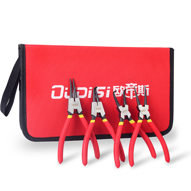 7 Inch Multifunctional Shaft Hole Snap Ring Pliers Multi Crimp Tool Internal External Ring Remover Retaining Circlip Pliers