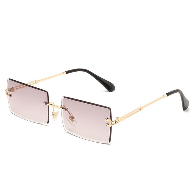 Square Rimless Sunglasses