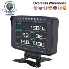 AUTOOL X50 Pro 12V wyświetlacz Head Up komputer pokładowy OBD2 HUD wyświetlacz samochodowy prędkościomierz Alarm wykrywanie błędów woltomierz temperatura
