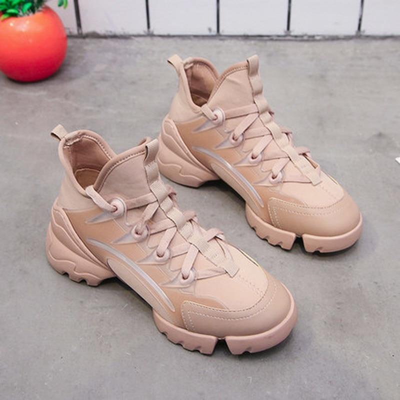 Designer Sneakers Women Platform Sneakers Casual Shoes Women 2019 Luxury Brand Fashion Chunky Sneakers Tenis Basket Femme