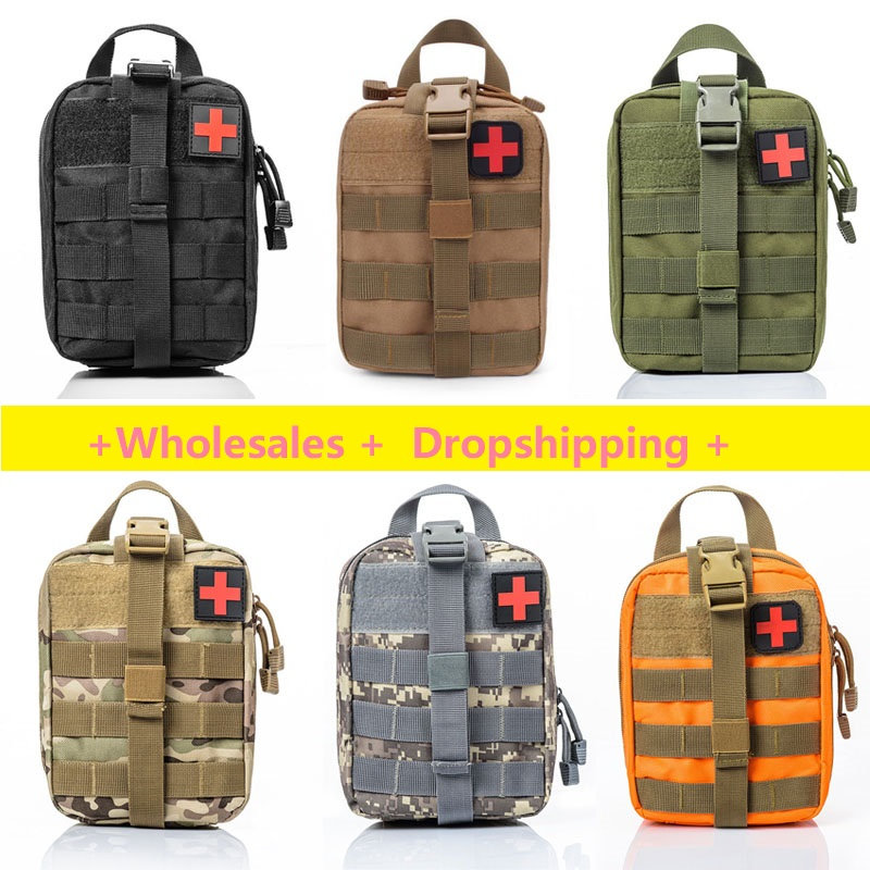 Emergency Survival Pouch Outdoor Medical Box Large Size SOS Bag/Package Tactical First Aid Bag Medical Kit Bag Molle EMT