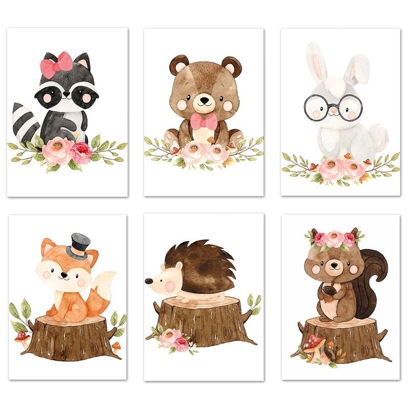 Купить милые с изображением животных из джунглей в виде пенька алмазов