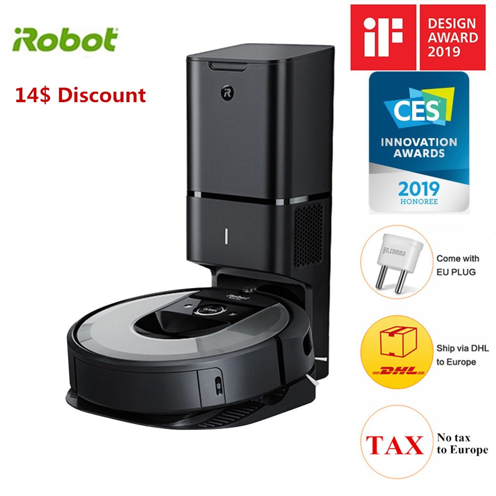 IRobot Roomba I7  Robot Vacuum Cleaner Automatic Dirt Disposal Imprint Smart Mapping Dirt Detect Automatic Charge APPControl