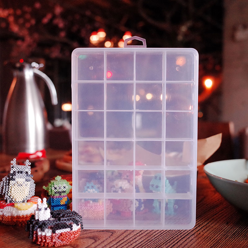 5mm Hama Beads 2.6mm Iron Fuse Beads 24Grids  Plastic Box Fuse Beads Fittings Educational Tangram Jigsaw Puzzle  Kids Toy Gift