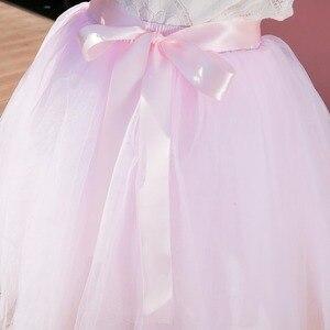 Image 5 - 7Layered 50cm Tutu Tulle Skirts Womens High Waist Swing Dolly Ball Gown Underskirt Mesh Summer Midi Skirt Faldas Saias Jupe