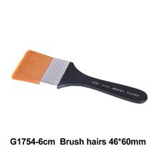 No. 6 Paint Brush Long Flat Head Cleaning Brush Gouache Acrylic Painting Brush Oil Brush Painting Wall Art Supplies 9 pieces long handle oblique flat art paint brush value set for oils acrylic gouache