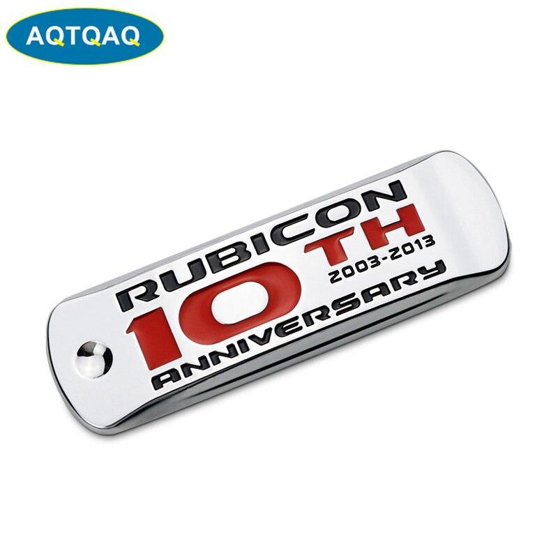 2x Silver Alloy Trail Rated 4X4 Nameplate Emblem Badge Sticker Fit SRT Wrangler