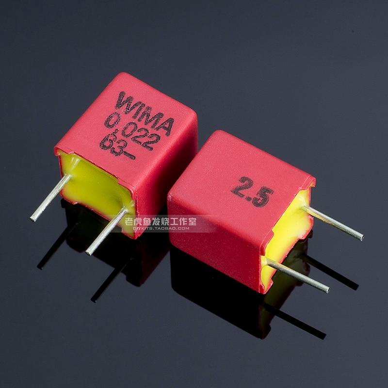 German FKP2 WIMA Film Capacitor Hi-fi Audio 33p 47p 68p 100p 220p 330p 470p 680p 1nf 2.2nf 4.7nf 6.8nf 10nf 22nf 1000v 630v 100v