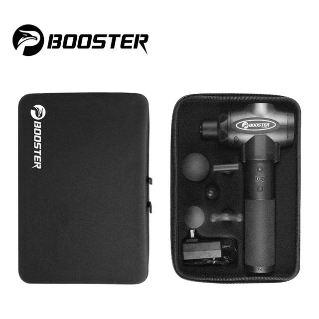 Booster E Massage Gun Deep Tissue Massager Therapy Body Muscle Stimulation Pain Relief for EMS Pain Relaxation Fitness Shaping 5