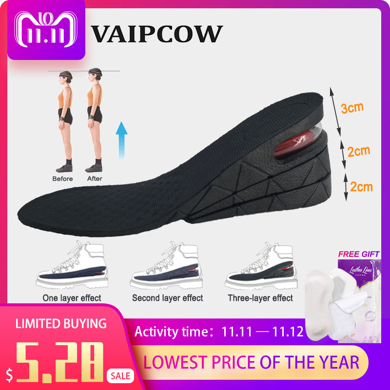 3-7cm Air Cushion Up Adjustable Invisible Height Increase Insoles For Man Or Wowan Taller Heel Lift Shoes Pads Insert Insoles