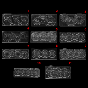 1Pcs DIY Template Manicure Decoration Multi-Type 3D Nail Art Silicone Mold Stamper Carving